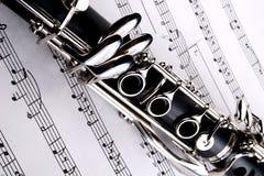 Clarinet und Anmerkungen Stockfotografie