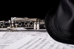 Clarinet, under a hat Stock Images