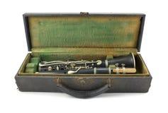 Clarinet velho imagens de stock royalty free