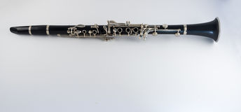 Clarinet on White Background Royalty Free Stock Image