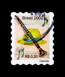 Clarineta - clarinetto, serie degli strumenti musicali, circa 2002 Fotografia Stock