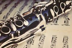 Clarinete Foto de archivo libre de regalías