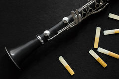 Clarinete e Reed Imagem de Stock Royalty Free