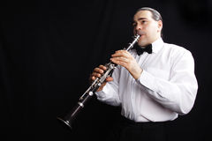 Clarinetista Foto de archivo libre de regalías