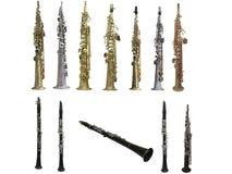 Clarinets. Isolated under the white background Stock Photo