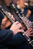 Clarinets of a municipal band. Stock Image