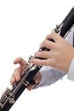 Clarinetspieler Lizenzfreie Stockbilder