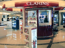 Clarins shop in Hong Kong Royalty Free Stock Image