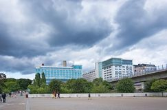 Clarion Hotel Stockholm seen from the back royalty free stock photography