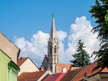 Clarissinekerk in Bratislava, Slowakije Royalty-vrije Stock Afbeelding