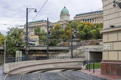 Clark Adam Square in Budapest, Hungary. stock photo
