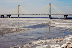 Clark Bridge in Alton, Illinois Stock Photography