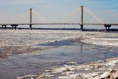 Clark Bridge em Alton, Illinois Fotografia de Stock