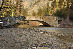 Clark Bridge in Yosemite. A sunrise view of Clark Bridge in Yosemite National Park, California Royalty Free Stock Photography