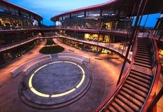 Clark center at Stanford University. At dusk royalty free stock photo
