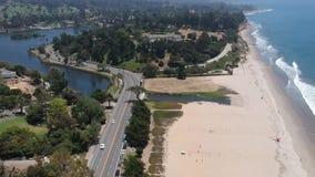 Clark Estate Santa Barbara Flyover stock video footage