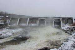 Clark Falls Dam. In Milton, Vermont Royalty Free Stock Image