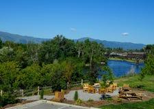 Clark Fork River - Missoula, Montana imagens de stock