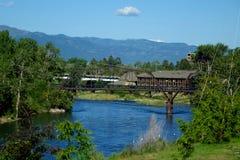 Clark Fork River - Missoula, Montana foto de stock royalty free