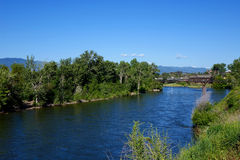 Clark Fork River - Missoula, Montana Royalty Free Stock Images