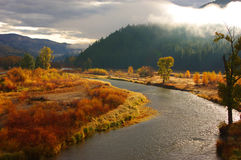 Clark Fork River, Montana Image stock