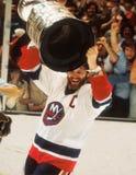 Clark Gilles che tiene Stanley Cup fotografia stock