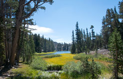 Clark Lakes på John Muir Trail Fotografering för Bildbyråer