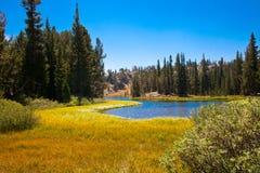 Clark Lakes på John Muir Trail i den Ansel Adams vildmarken arkivfoto