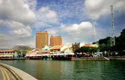Clark Quay. View of Clark Quay in Singapore on sunny day Royalty Free Stock Photography