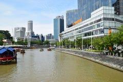 Clark Quay Central Singapore Arkivbilder