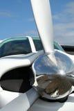 Clark reflections small aeroplane propeller Royalty Free Stock Photo