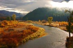 Clark rozwidlenia rzeka, Montana obraz stock