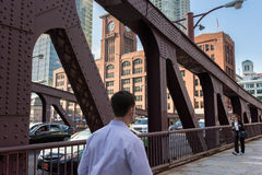 Clark Street Bridge Stock Image