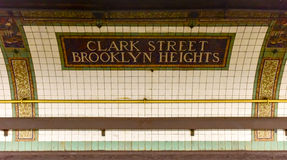 Clark Street Station - New- Yorku-bahn stockfotos