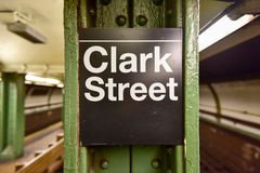 Clark Street Subway Station - Brooklyn, New York Arkivfoto