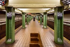 Clark Street Subway Station - Brooklyn, New York Royaltyfria Foton