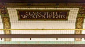 Clark ulicy stacja - Nowy Jork metro zdjęcia stock