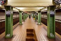 Clark Uliczna stacja metru - Brooklyn, Nowy Jork zdjęcia royalty free