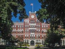 Clark University een privé onderzoekuniversiteit in Worcester stock afbeelding