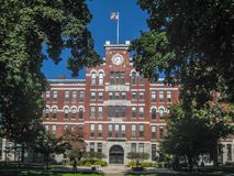 Clark University un'università privata di ricerca a Worcester immagine stock