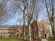 Clark University, Worcester, USA Early Spring Royalty Free Stock Image