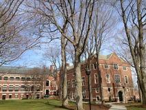 Clark University Worcester, USA tidig vår Royaltyfri Bild