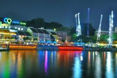 clarke noc quay Singapore zdjęcie stock