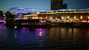 Clarke Quay Bridge stock video