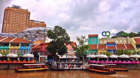 Clarke Quay Royalty Free Stock Photography