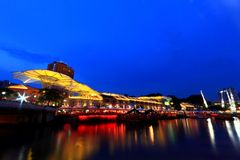 Clarke Quay in the evening Stock Images