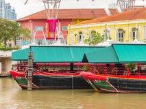 Clarke Quay, historical quay on the Singapore River Stock Photos