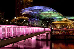 The clarke quay by night Stock Photos
