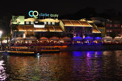 Clarke Quay river side royalty free stock photos