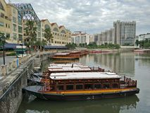 Clarke Quay, Singapore Immagine Stock